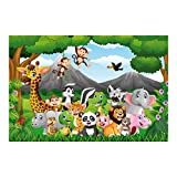 Bilderwelten Papier peint intissé - Wild Jungle Animals - Mural Large papier peint photo intissé tableau mural photo 3D mural, Dimension HxL: 255cm x 384cm