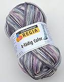 Regia Sockenwolle 4-fädig color 50g Farbe 7200 möwe Strumpfwolle