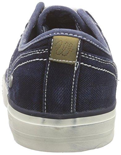 Wrangler Starry Low Denim, Sneaker Basse Uomo Blu (Blau (284 BLUE/DENIM))