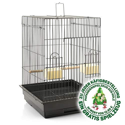 Montana Cages ® | Transportkäfig EOS ca. 44 x 44 x 68 cm Antik für Großsittiche & Papageien, Vogelkäfig für den Transport