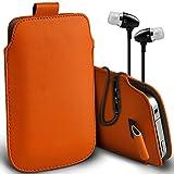 ( Orange + Ear phone 142 x 72 ) Pouch case for Medion X5004