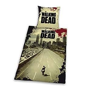 Herding 4865088050 Parure de Lit pour Jeune avec Imprimé The Walking Dead en Microfibre Multicolore 135 x 200 cm