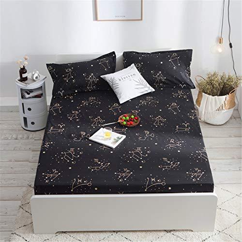 JUNDY Matratzeschoner in verschiedenen Größen, Atmungsaktiv, Anti-Allergisch, gegen Milben wasserdichte Bettdecke mit Urinbelüftung 16 180 * 200cm
