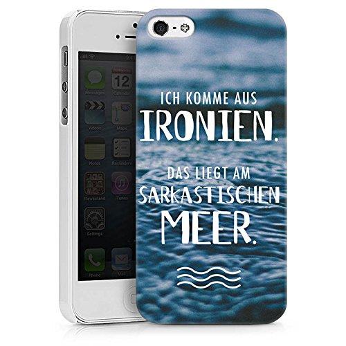 Apple iPhone X Silikon Hülle Case Schutzhülle Spruch Humor Statement Hard Case weiß