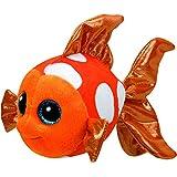 Carletto Ty 37176 - Sami mit Glitzeraugen, Glubschi's, Beanie Boo's Clownfisch, 15 cm