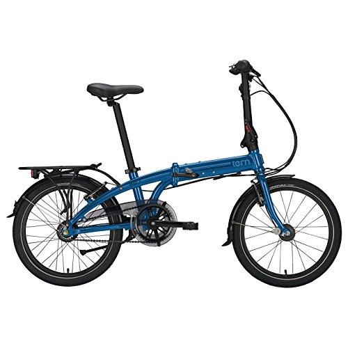 Tern Faltrad Link C3i 20' 3 Gang Klapp Fahrrad City Rad Faltbar Gepäckträger Nabendynamo LED Alu, CB17PFCO03HDR, Farbe blau