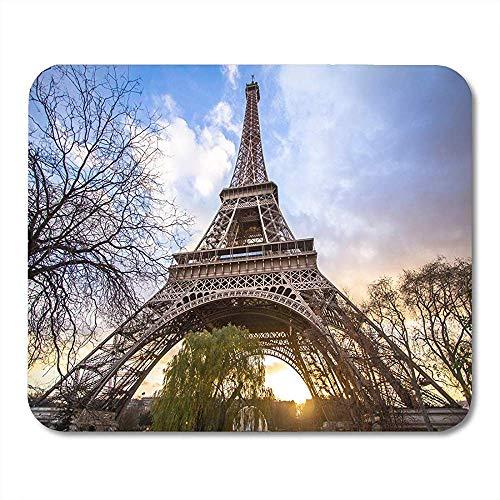Mausunterlage Blauer Eifel Eiffelturm bei Sonnenuntergang Paris Frankreich Architektur-Mausunterlage