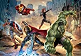 Fototapete STREET RAGE 368x254 Marvel Comic-Helden Hulk Captain America Avengers