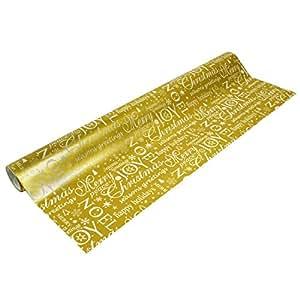 Papier cadeau doré - Taille Unique