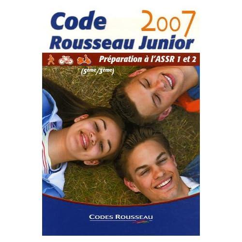 Code Rousseau Junior : Préparation à l'ASSR 1 et 2 (5e/3e)