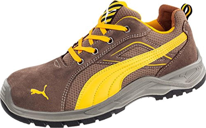 Puma - Calzado de protección de Piel para hombre, color marrón, talla 45 EU