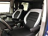 seatcovers by k-maniac Sitzbezüge Fahrersitz Beifahrersitz Armlehnen Design T51 schwarz-grau