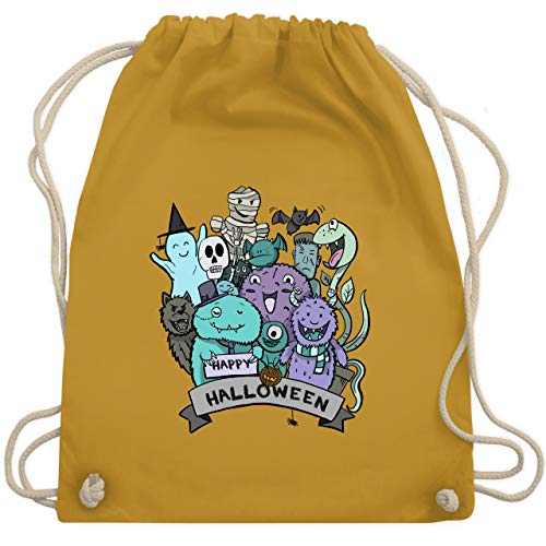 lloween Monster - Unisize - Senfgelb - WM110 - Turnbeutel & Gym Bag ()