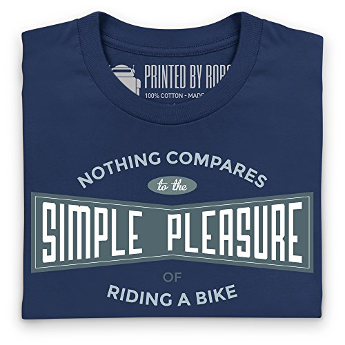 Cycling - Simple Pleasure T-Shirt, Herren Dunkelblau