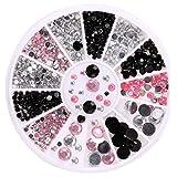 Toamen Autocollants Faux Ongles 3D Conseils d'art d'ongle acrylique Décoration Flat Back Glitter DIY