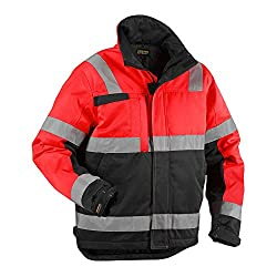 High Vis Winterjacke High Vis Rot/Schwarz L