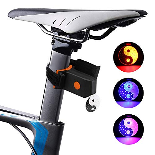 TianranRT LED USB wiederaufladbar Fahrrad Schwanz Licht Fahrrad Sicherheit Radfahren Warnung Lampe Tai Chi - Taube Licht