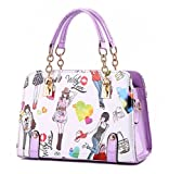 Search : YAAGLE Fashion Painted Handbags Printing Simple Handbag Shoulder Bag Inclined Satchel For Girls and Women