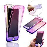 iPhone SE Case [Scratch Resistant],Vandot High Quality Soft Shockproof Slim Fit 360 Degree Protective Front and Back Full Body TPU Silicone Gel Case Cover For Apple iPhone SE 5S 5-Transparent Rose Red Purple