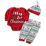 Weihnachts Party Kostüm Weihnachten 3Pcs Outfit Sets Baby Mädchen Jungen meine erste Weihnachten Snowflake Coat Bodysuit Strampler Kostüm Weihnachten Nikolauskostüm Weihnachtsmannko ( Größe : 90 )