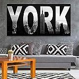 yhyxll Quadro su Tela Decorazioni per la casa Quadro su Tela New York City Paesaggio Quadro su Tela Immagine per Soggiorno 60x120 cm