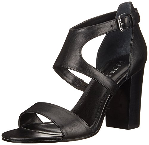 Lauren Ralph Lauren Tahira Robe Sandal Black Burnished Vachetta
