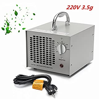 220V 3500mg Commercial Industrial Ozone Generator Air Purifier Mold Mildew Odor Remover Grey