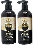 x2 By My Beard- Champú para barba para hombre, bigote y cuidado facial del cabello