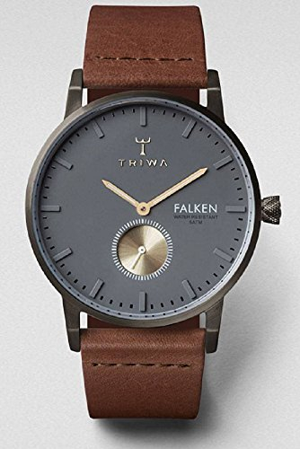 Triwa Walter Falken Montre Unisexe Avec Bracelet Classique en Cuir Marron fast102cl010213