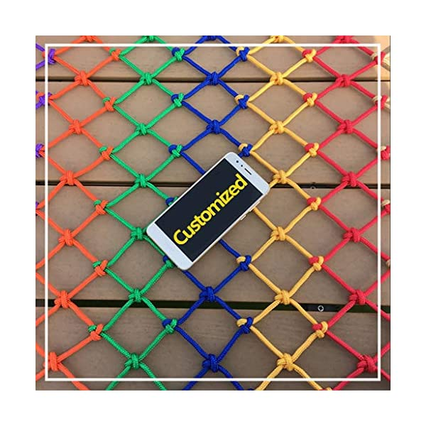 Child safety net protective net balcony stairs anti-fall net kindergarten color decorative net fence network Length 1M /9M Hand braided traditional structure (Color : Outdoor, Size : 4m*5m)  [Protect children's safety]: Many children fall from the building, let us understand that the safety of children can not be ignored. [Polyester knotless woven mesh]: The mesh surface has large pulling force, and the double needle has no knot woven mesh hole, so that the mesh has stronger impact resistance. [wire diameter 4MM, mesh spacing 4CM]: Escort for baby safety.(Others available in our shop) 3