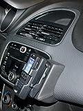KUDA Telefonkonsole (LHD) für Fiat Punto EVO 11/2009 & Punto 2012 Mobilia/Kunstleder schwarz