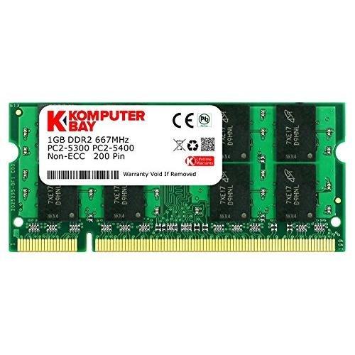 Komputerbay 1GB DDR2 667MHz PC2-5300 PC2-5400 (200 PIN) SODIMM Laptop-Speicher -