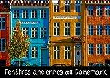 Fenêtres anciennes au Danemark : Un vieux village de pêcheurs, de petites maisons d'époque aux fenêtres anciennes et décorées avec soin et originalité. Calendrier mural A4 horizontal 2016