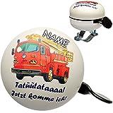 alles-meine GmbH Fahrradklingel -  Feuerwehr Tatütata  - inkl. Name - Ding Dong - 2 Klang - ..