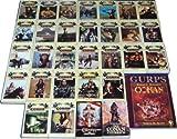 Der gelbe Conan Zyklus mit dem Conan Universum sowie einer Weltkarte (Conans Welt) (Conan - von Cimmerien - Pirat - Wanderer - Abenteurer - Krieger - Thronräuber - Eroberer - Rächer - von den Inseln - Barbar - Schwertkämpfer - Schwert von Skelos - Befreier - Strasse der Könige - Freibeuter - und der Zauberer - Söldner - und der Spinnengott - von Aquilonien - Verteidiger - Unbesiegbare - Unüberwindliche - Siegreiche - Prächtige - Glorreiche - Tapferer - Zerstörer)