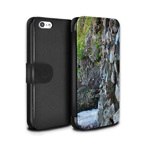 Stuff4 Coque/Etui/Housse Cuir PU Case/Cover pour Apple iPhone 5C / Pack 14pcs Design / Campagne Écossais Collection Flux Rocheuse
