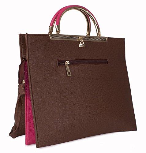 Big Handbag Shop, Borsa a mano donna Taglia unica Beige