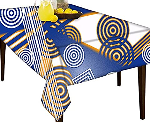 concetric Quadrate und Kreise 2611wasserabweisend Tischdecke Esstisch Cover Protector, multi, 51 x 60