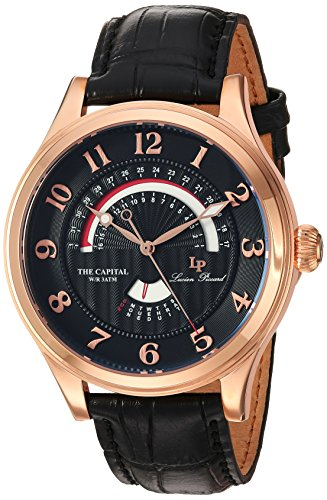 Lucien Piccard Men's Analogue Quartz Watch with Leather Strap LP-40050-RG-01