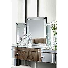 Meuble coiffeuse avec miroir for Miroir 3 faces pour coiffeuse