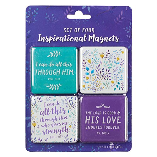 Christian Art Gifts Magnet-Set-Positiv Violett-Set von 4