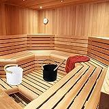 Raspbery Lussuoso Secchio in Alluminio da Sauna Finlandese 7L con Manico in Legno Lungo Set di barili da Sauna con mestolo Abbinato, Vasca da Bagno con Sauna per la casa, Sauna, Bagno a Sustainable