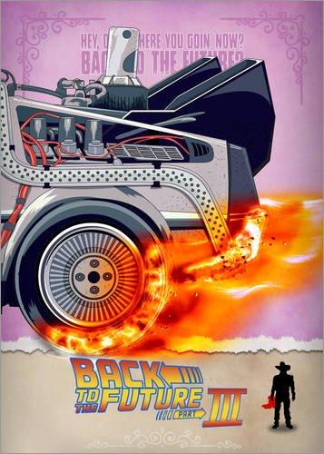 urück in die Zukunft - Minimal Movie - Teil 3 von 3 Alternative von HDMI2K - hochwertiger Kunstdruck, neues Kunstposter ()