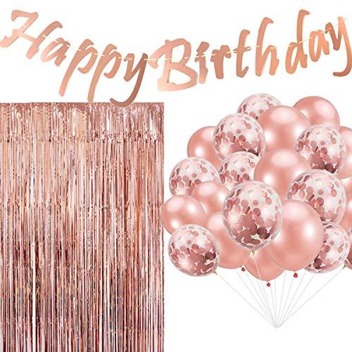 Cebelle Decoraciones Fiesta cumpleaños Oro Rosa