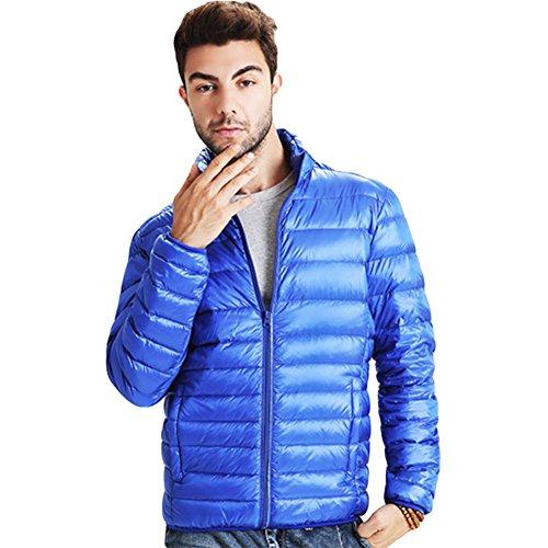 Meijunter Hiver Homme Poids léger Svelte Canard Sous-Vêtement Coat Outwear blue