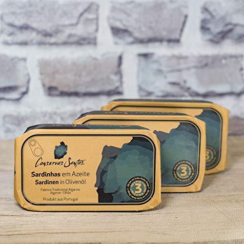 3 x 120g Sardinen in Olivenöl aus Portugal