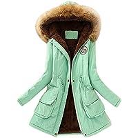 Senoly Damen Winterjacke Wintermantel Lange Verdickt Kapuzenpullover Zipper Coat Strickjacke Outwear Hoodie Trenchcoat Mantel Winter Slim Fit Warm Coat