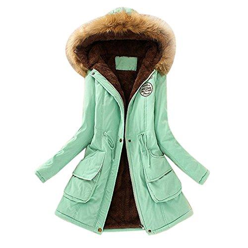 Aberimy Damen Mantel Frau Baumwolljacke Winter Lange Mit Kapuze Jacke Slim Fit Klassische Elegant Lange Ärmel Jacken Klassische Mode Winterjacke Beiläufig Outwear Strickjacke Jacke