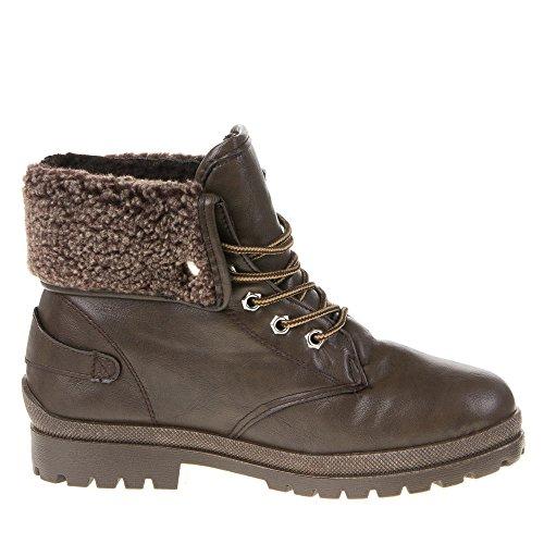 Ital-Design , bottes antidérapantes femme Marron - brun, 32215