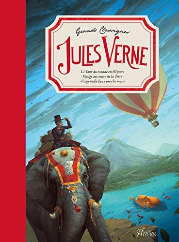 Grands classiques de Jules Verne : Le Tour du monde en 80 jours ; Voyage au centre de la Terre ; Vingt mille lieux sous les mers par Jules Verne